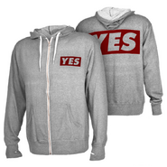 Daniel Bryan YES grey Lightweight Full-Zip Sweatshirt