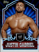 2011 Topps WWE Classic Wrestling Justin Gabriel 37