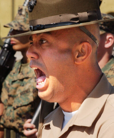 File:Drill sergeant screams.jpg