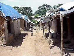 Refugee camp in Guinea