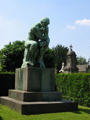 Rodin The Thinker Laeken cemetery