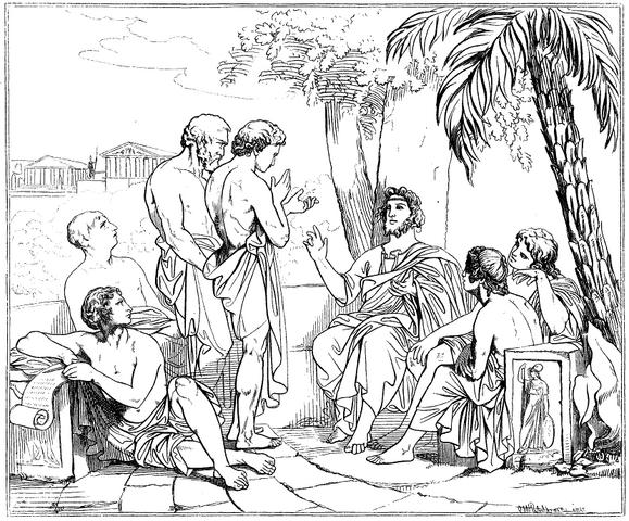 File:Plato i sin akademi, av Carl Johan Wahlbom (ur Svenska Familj-Journalen).png