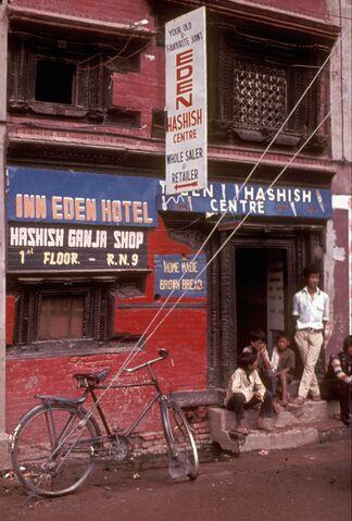 File:Hashish-shop-Kathmandu-1973.jpg