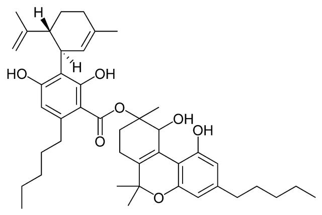 File:Cannabidiolic acid A cannabitriol ester.png