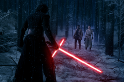 Kylo Ren confronts Rey and Finn.png