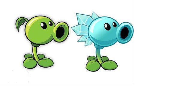 Image - Peashooter and ice pea.jpg - Plants vs. Zombies ...