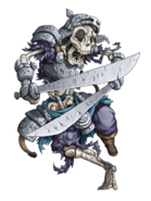 Skeleton Warrior (Water) transparent