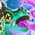 Deep Blue Gobble Frog Icon