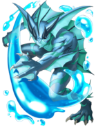 Blue Merman transparent