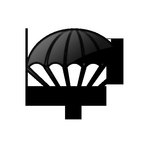 image 044519 glossy black icon sports hobbies parachute shotgun clipart png shotgun clipart png