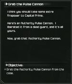 Rage Grab the Pulse Cannon quest