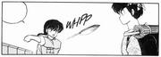 Ranma throws some bread