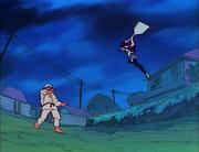 Ukyo fights Genma