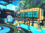 Ratchet and Clank at the tropical Kerchu fortress