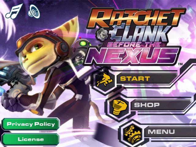 File:Ratchet & Clank Before the Nexus main menu.PNG