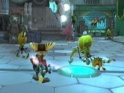 Ratchet confronts cleaner bots