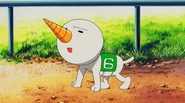 Plue as racer number 6