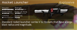 Rocket Lancher Game Stats