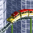 Yellow Taxi Coaster RCT2 Icon