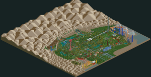 Six Flags Magic Mountain RCT2