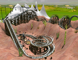 Wooden Coaster RCT3 Terraformed