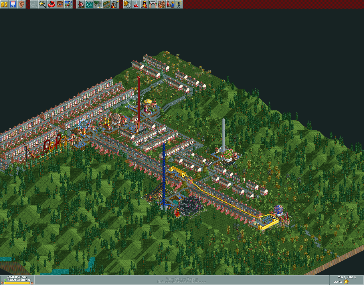 roller coaster tycoon 2 how to start from scratch