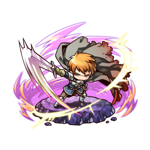 Avenger (Hero of Sunlight) before facing Rou in the mobile game