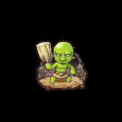 Gobukichi as a Goblin in the mobile game