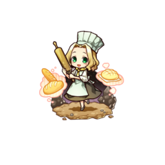 Alma Timiano as a Cook Chief in the mobile game