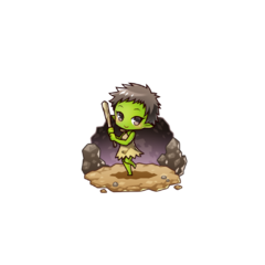 Gobumi as a Goblin in the mobile game