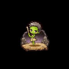 Gobumi as a Goblin in the mobile game
