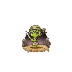 Gobue as a Goblin in the mobile game