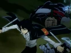 Hibari Beats the Mosca