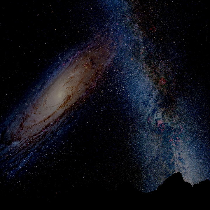 the milky way galaxy collision with andromeda - photo #16