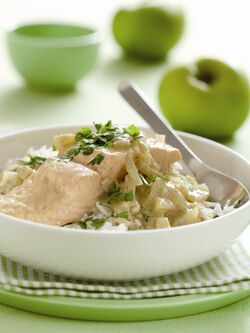 Green Fish Curry with Coconut Milk and Bramley Apples image