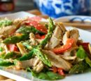 Chicken and Asparagus Salad in Tomatoes