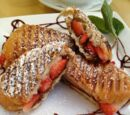 Chocolate and Strawberry Grilled Croissants