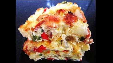 Savory Baked Potatoes with Cheese and Sausages Recipe