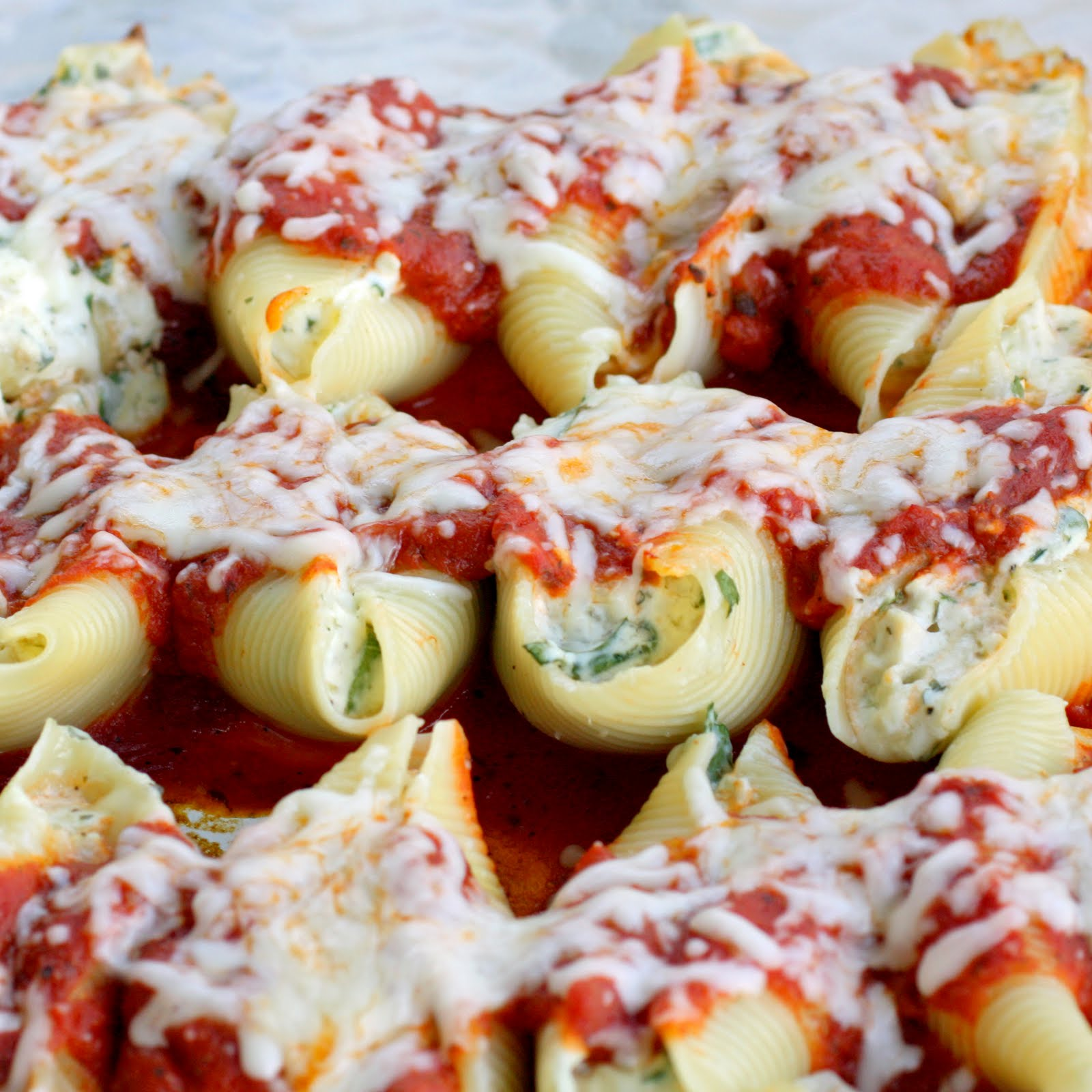 Image result for cheese and spinach stuffed shells