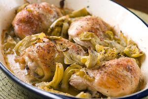 Baked-chicken-with-artichokes