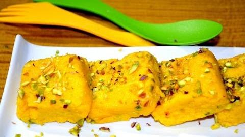 Mango Kalakand - Easy Indian Dessert Recipe
