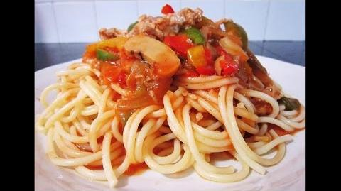 Tasty Tomato Sauce Spaghetti With Minced Chicken Recipe