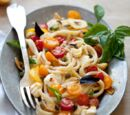 Martha Stewart's Pasta with Marinated Tomatoes
