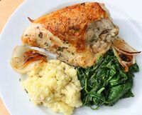 Pan-roasted-chicken-spinach