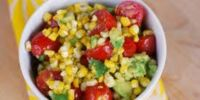 Fresh Corn, Avocado, Tomato Salad