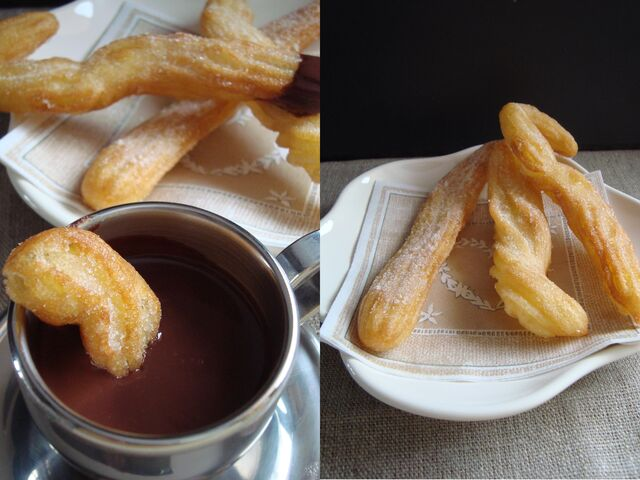 File:Churros and hot chocolate.jpg