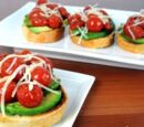 Avocado Salad Flatbread Sandwich