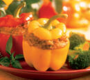 Cheddar and Pumpkin-stuffed Peppers