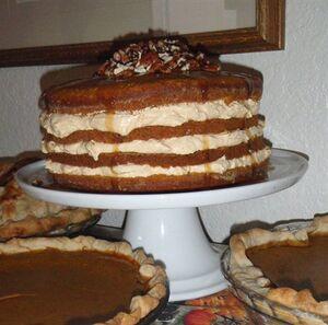 4 layer pumpkin cake