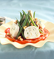 Green Bean, Smoked Mozzarella and Tomato Salad